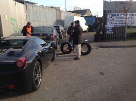 "Winter tyres pressure tested 14/15/16/17/18/19"" unit 90 fleet road ig117bg"