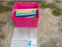 Two file storage boxes complete with inserts unused
