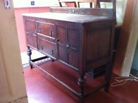 Antique Edwardian Cupboard Sideboard Buffet or Washstand / Can Deliver