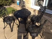 Cast iron, patio set, heavy weight