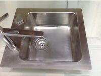 Stainless steel sink and tap new