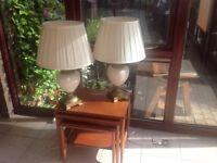 Hand made designer lamps cream shade and base