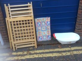Pine wooden babies cot, used. In reasonable condition. Collection only.