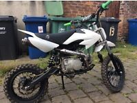 125cc CRF 50 £370 like new hardly usd from new.