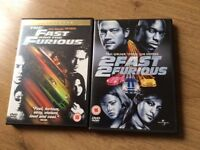 Fast and furious dvd's in great condition