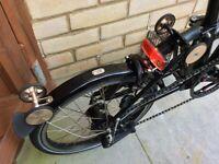 Electric Brompton H6L Black 6 Speed Folding Bike