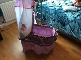 Child's Maria dolls play cot on castors