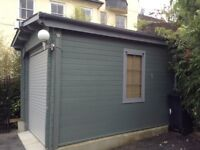 "Wooden Log Garage Trent W10' 0"" x D18' 0"" - Dunster House"