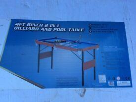 "4' 6"" Pool / Billards Table BRAND NEW IN BOX"