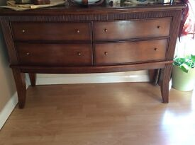 Dining table with 6 chairs and side board,orOnly Dinning table with chairs £400Only side board£200