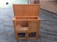 Guinea pig /small rabbit hutch with run underneath