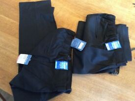 Black boys school trousers. Marks and Spencer black aged 14-15