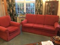 3 seater settee and Armchair in prrfectcondition