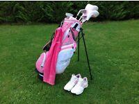 Girls Junior Golf Clubs & Shoes