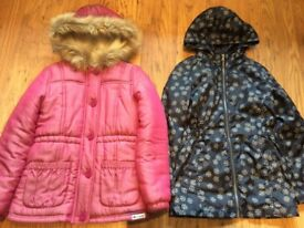 Girl winter Coat and Jacket age 9-10 year old - excellent condition.