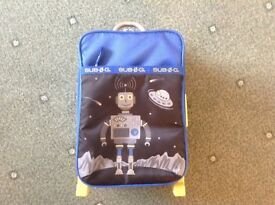 Small Robot Suitcase with Wheels Excellent Condition