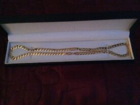 Brand new 20in 9ct gold curb chain. Price reduced