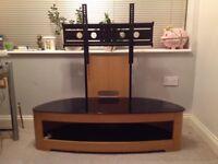 Jual Curve Oak TV stand