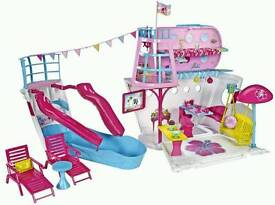 Barbie cruise ship and swimming pool