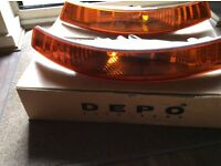 RENAULT TRAFIC / NISSAN PRIMASTER FRONT PAIR OF INDICATOR LENSES