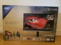 "AOC U3277PWQU 31.5"" 4K Ultra HD LCD computer monitor. Brand new in box."