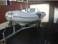 Wind rigid inflatable boat