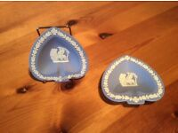 Wedgwood Jasperware Heart Shaped Dishes