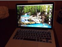 "Macbook pro 13.3"", like new, hardly used, retina display, 256gb ssd, 8gb ram, 2015 model"