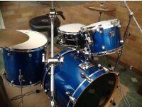 Premier Gen X Pro 3 Piece plus Ludwig Black Beauty Snare plus Zildjian Cymbals Mint Condition