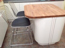Padded metal bar / kitchen stools