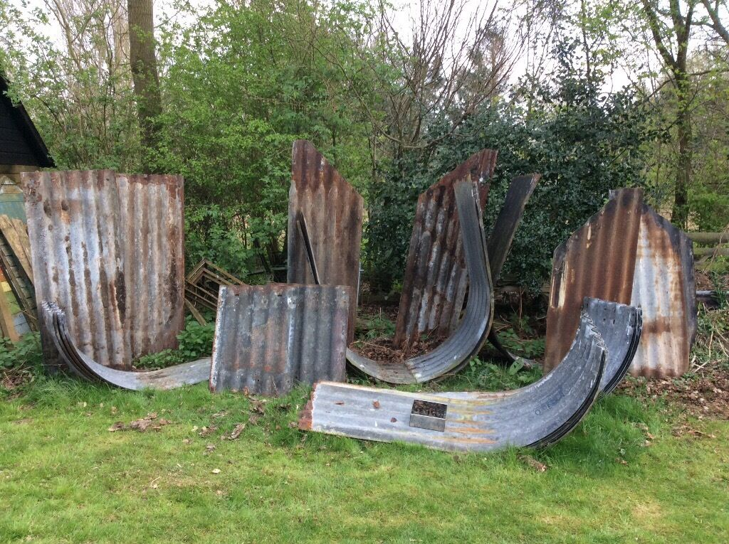 Anderson Air Raid Shelters X3 Wartime Corrugated Iron