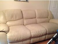 3 seater settee leather electric recliner