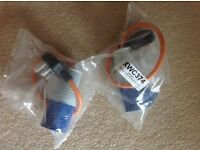 Mains hook up caravan 230v leads for sale