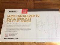 """VonHaus Slim Cantilever TV Wall Bracket 23""""-56"""" New In Box"""