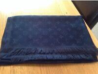 Louis Vuitton Navy Blue Cotton Pashmina