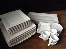 Julian Graves White Plate Set and White Espresso Set