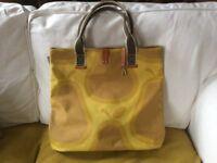 Orla Kiely Mustard shopper bag