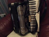 Delmer Invicta Piano Accordion and hard case for sale