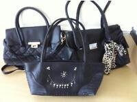 3 black handbags as new