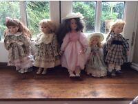 5 China Dolls