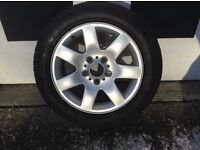 BMW alloy with brand new tyre. Off 3 series