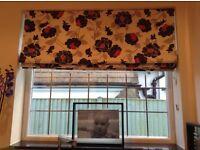 Three matching handmade Roman blinds