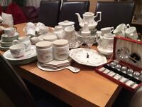 Eternal Beau part set and Royal Doulton in total 105 pieces And Dessert Spoons .