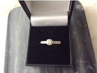 """Quality Diamond Ring and Diamond Neckace in White Gold both boxed """"Immaculate"""""""