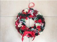 Handmade Christmas or celebration ring wreath. Choose your colour theme.