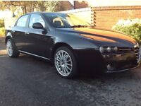 ALFA 159 2008 DIESAL BLACK ONLY 78K