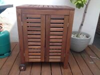 IKEA Applaro wooden cabinet trolley garden furniture BBQ