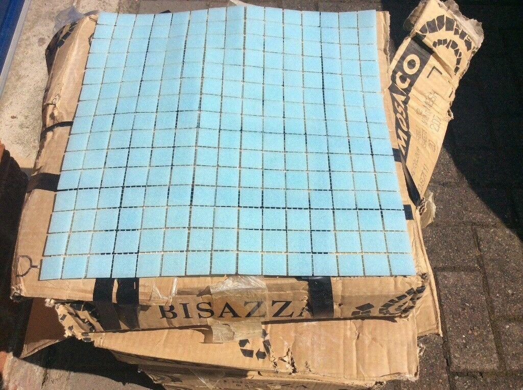 Aqua Gl Mosaic Tiles