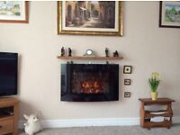 Electric wall mounted fire flame effect with 2settings log effect excellent condition
