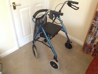 Walker with wheels to aid mobility